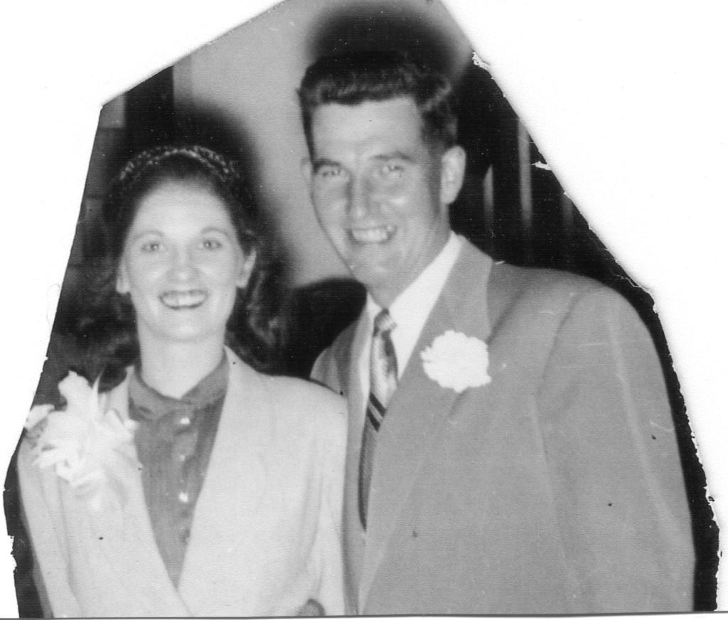 Chapman, Vera & John, wedding St John Episcopal Church, Seattle, 26 May 1954. 2 of 2
