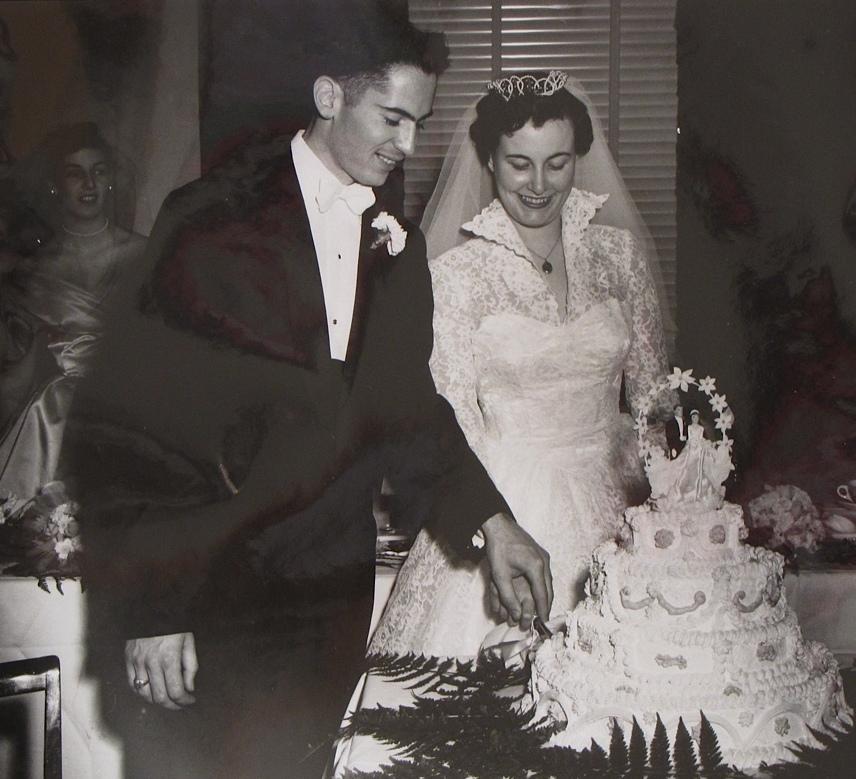 George & Joan Raishy 10 Nov 1956. 4 of 5