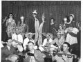 Skyline Club, Burtonwood, Feb 1957, Mardi Gras, King Joe Wotisky, right of Queen Helen Dorning, Ass Club Director
